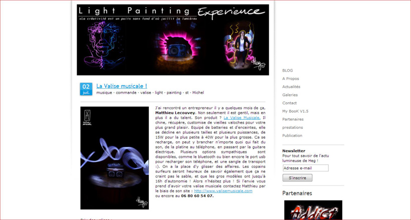 Valise Musicale chez Light Painting Experience