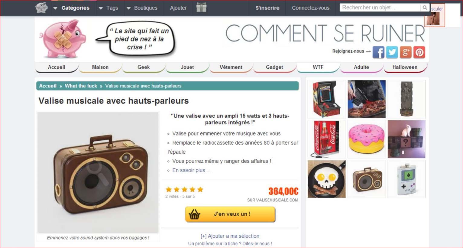 Valise Musicale chez CommentSeRuiner.com