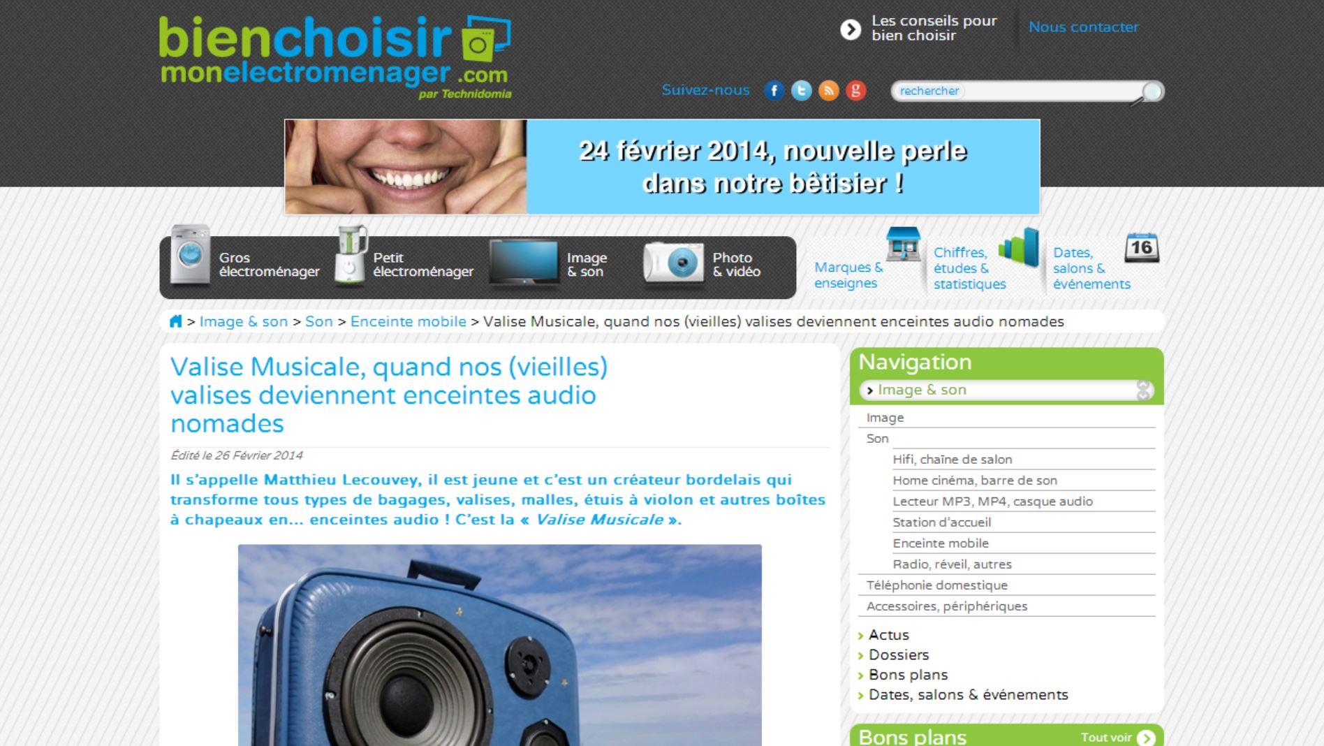 Valise Musicale chez bienchoisirmonelectromenager.com