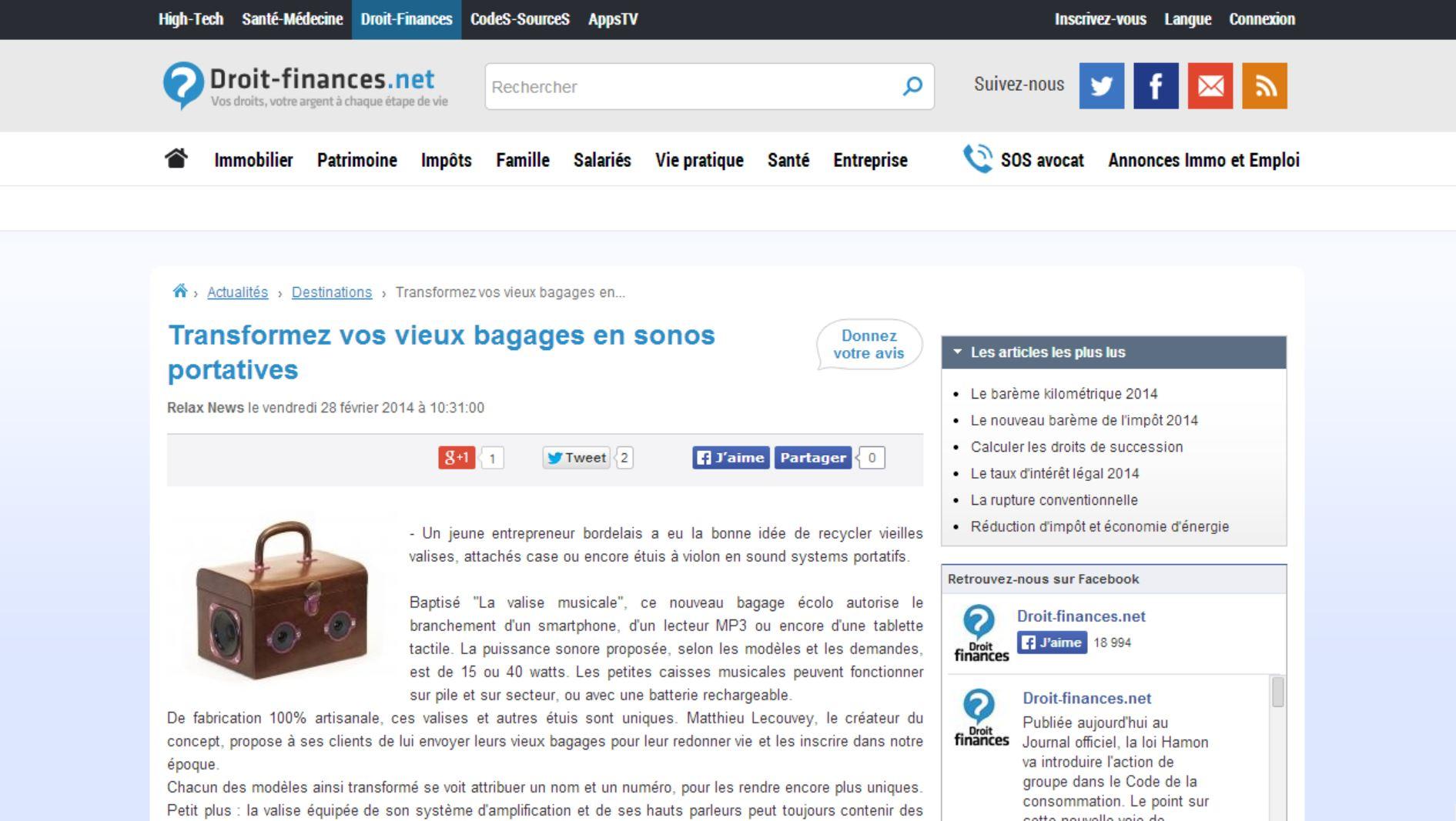 Valise Musicale chez CommentCaMarche.net