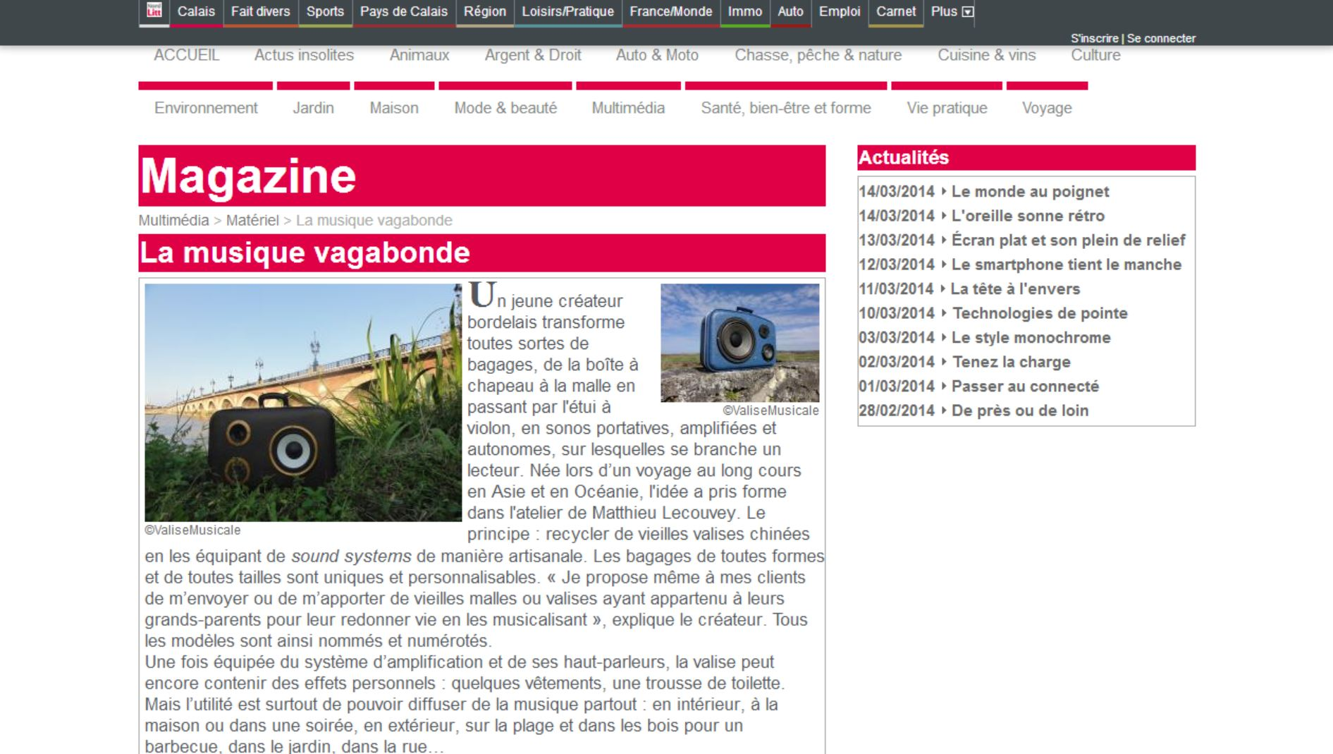 Valise Musicale chez NordLittoral.fr