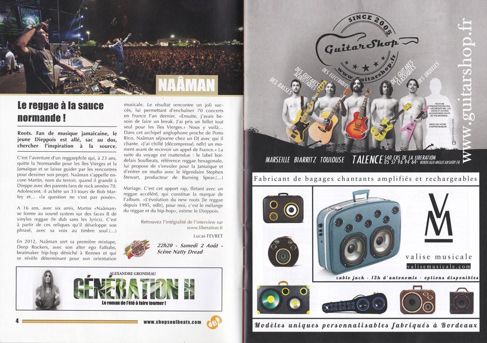 Valise Musicale dans le Fanzine Soulbeats Record au Reggae Sun Ska 2014