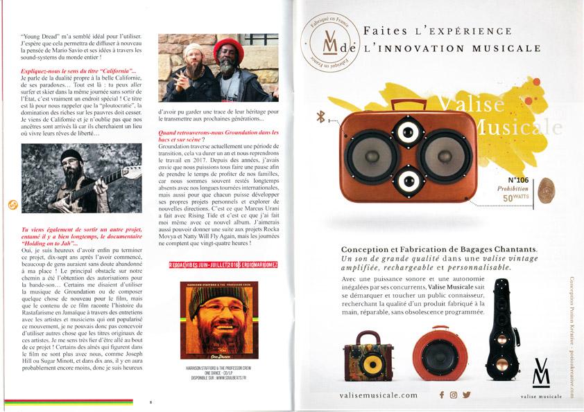 Valise Musicale dans le Fanzine Soulbeats Record au Reggae Sun Ska 2016